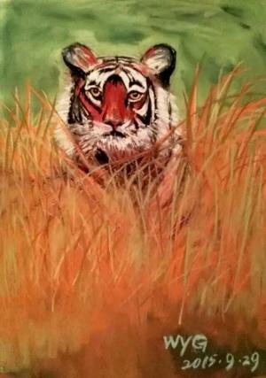 喜欢上了画画,从水粉画到水彩画